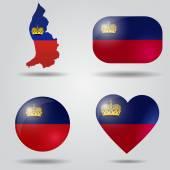 Liechtenstein flag set — Stock Vector