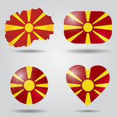 Macedonia flag set — Stock Vector