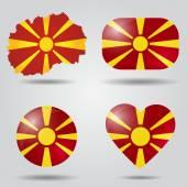 Macedonia flag set — Stock Vector
