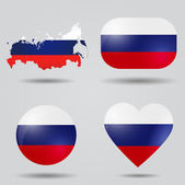 Russia flag set — Vector de stock