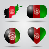 Afghanistan flag set — Stock Vector