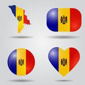 Moldova flag set — Stock Vector