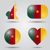 Cameroon flag set — Stock Vector