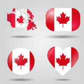 Canada flag set — Stock Vector