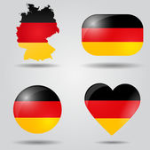 Germany flag set — Stock Vector