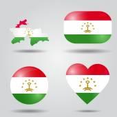 Tajikistan flag set — Stock Vector