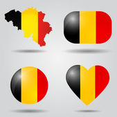 Belgium flag set — Stock Vector