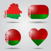 Belarus flag set — Stock Vector