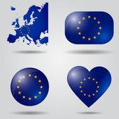 European Union flag set — Stock Vector