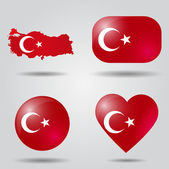 Turkey flag set — Stock Vector