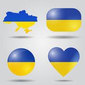 Ukraine flag set — Stock Vector