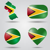 Guyana flag set — Stock Vector