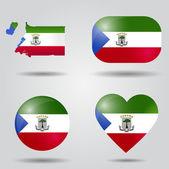 Equatorial Guinea flag set — Stock Vector