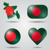 Bangladesh flag set — Stock Vector