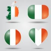 Ireland flag set — Stock Vector