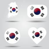 South Korea Flag set — Stock Vector