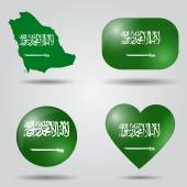 Saudi Arabia flag set — Stock Vector