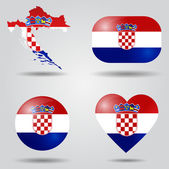 Croatia flag set — Stock Vector