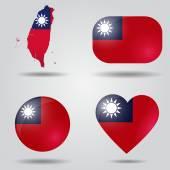 Taiwan flag set — Stock Vector