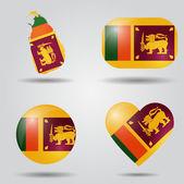 Sri Lanka flag set — Stock Vector