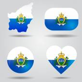 San Marino flag set — Stock Vector