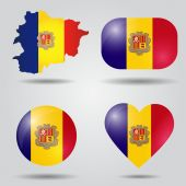 Andorra flag set — Stock Vector
