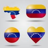 Venezuela flag set — Stock Vector