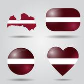 Latvia flag set — Stock Vector