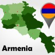 Постер, плакат: Armenia Republic of Macedonia political map