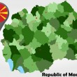 Постер, плакат: Republic of Macedonia political map