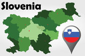 Slovenia political map — Stock Vector