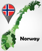 Norway political map — Stock Vector
