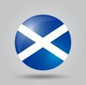 Circular flag - Scotland — Stockvector