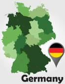 Germany political map — Stock Vector