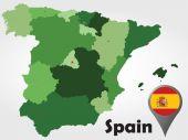 Spain political map — Stock Vector