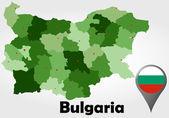 Bulgaria political map — Stock Vector