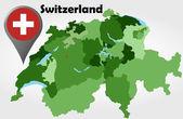 Switzerland political map — Vetorial Stock