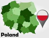 Poland political map — Stock Vector