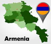 Armenia Republic of Macedonia political map — Stock Vector