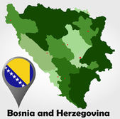 Bosnia and Herzegovina political map — Stock Vector