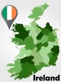 Ireland political map — Stock Vector