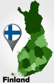 Finland political map — Stock Vector