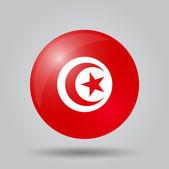 Circular flag  - Tunisia — Stock Vector