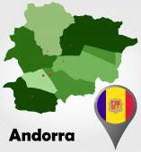 Andorra political map — Stock Vector