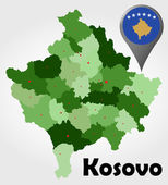 Kosovo political map — Stock Vector