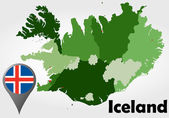 Iceland political map — Stock vektor