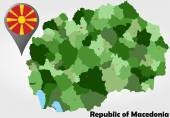 Republic of Macedonia political map — Stock Vector