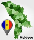 Moldova political map — Stock Vector