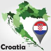 Croatia political map — Stock Vector