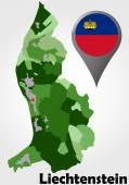 Liechtenstein political map — Stock Vector